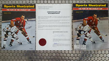 sports illustrated magazine 04/25/66 detroit Bill Gadsby lot signed coa +bonus !