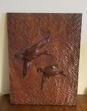 Vintage Wood Duck plaque  Primitive Cabin Decor AAFA 1964 SIGNED