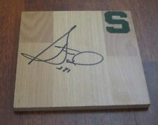 STEVE SMITH HAND SIGNED MICHIGAN STATE SPARTANS LOGO FLOOR TILE W/COA