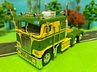 DCP 1/64 Beautiful Green/Yellow, Kenworth *K100 Cabover Flat-Top, Semi Tractor