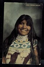 1915 El Paso TX USA Postcard Native American Indian Pima Squaw Woman Cover