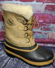 Eddie Bauer Sorel Wool Lnd Winter Snow Leather Rubber Duck Boots Womens 8 Mens 7