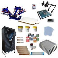 4 color 1 station Screen Printing Kit Press Pritner with Simle Model Equipment