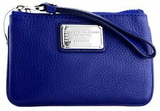 NWT MARC BY MARC JACOBS SMALL CLASSIC Q PEBBLED LEATHER WRISTLET W KEYRING $128