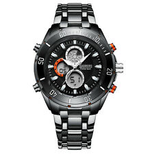 No Reserve! SRP £455 B.K Black CHRONOGRAPH Bezel Watch Inc Tag & Em Boss Box