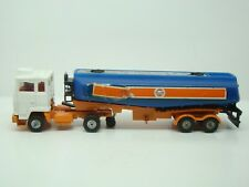 CORGI MAJOR - 1160 - GULF PETROL TANKER WITH FORD TILT CAB - 1975 -1/48 - ANCIEN