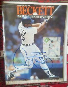 Cecil Fielder Robin Ventura Dual Hand Signed Beckett Magazine Tigers White Sox