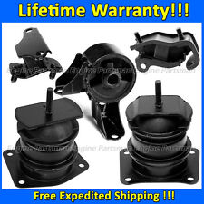 0012 Motor & Trans Mount 5pc Set for 1998-2002 Honda Accord 3.0L w/ Vacuum Pin