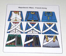 9 adesivi personalizzati GUERRA NAPOLEONICO-ESERCITO FRANCESE-Dimensione sul Torso Lego