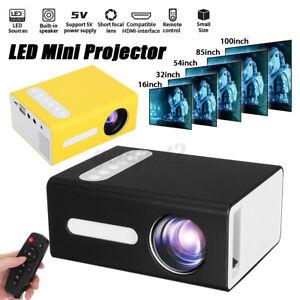 Tragbarer LED Projektor Mini Beamer Heimkino Multimedia HD 1080P USB HDMI AV VGA
