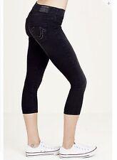 NWT True Religion Women's Starlet Black Capri Size Small