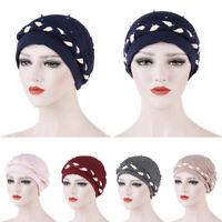 Muslim Beads Turban Hat Cancer Chemo Hair Loss Cap Women Hijab Head Scarf Beanie