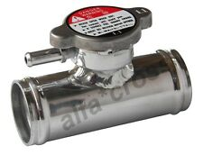 """Radiator Hose Filler Neck & Cap Aluminum Inline Coolant Hose Drain 1-1/2"""" (38MM)"""