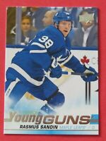 2019-20 Upper Deck Young Guns, Rasmus Sandin RC # 222 Toronto Maple Leafs NM-MT+