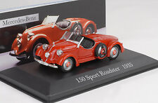 1935 Mercedes-Benz 150 Sport Roadster W30 red rot 1:43 IXO Altaya Collection 17