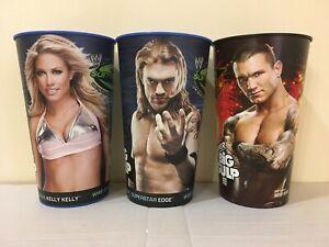WWE Kelly Kelly Edge Randy Orton SummerSlam 7/11 Super Big Gulp Collector's Cups