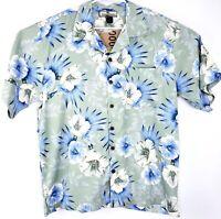 Tommy Bahama NWT Mens Medium Hawaiian Camp Shirt Button Down Floral 100% Silk