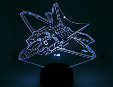 F 22 RC EDF Airplane 3D Acrylic Light with Extras