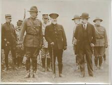 Photo Général PERSHING & POINCARE à GONDRECOURT (55) en 1917 -