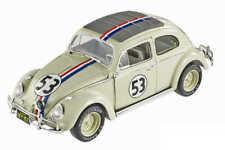 Mattel Volkswagen Beetle Coccinelle 1962 Herbi the Love Bug Voiture Miniature 1:18 - Blanche (BCJ94)
