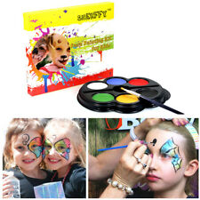 Halloween Dress Up Party Body Painting Kit Funny Face Makeup Supplies 6 Colors