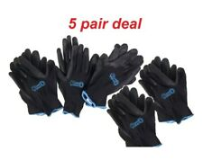 New Grease Monkey Large Black Gorilla Grip Gloves (5-Pack) Maximum Gripping