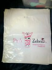 Pink Zebra Poly Bags With Handle - Sprinkles/Soaks/Simmer Pot/Simmering Light