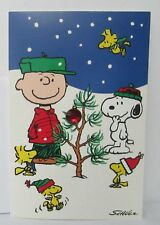 Peanuts Hallmark Christmas Greeting Card w/ Envelope New Snoopy Charlie Brown