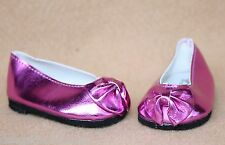 Doll Clothes fitting 18 inch Dolls Magenta Pink Metallic Princess Shoes