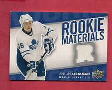 2007-08 UPD # RM-AS LEAFS STRALMAN ROOKIE MATERIALS GAME JERSEY CARD