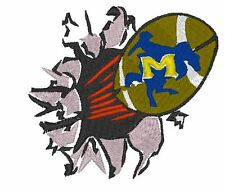 McNeese Ball Busting Thru Embroidery Design