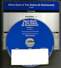 STEVE EARLE Invisible Ultra rare 2009 USA PROMO Radio DJ CD single MINT