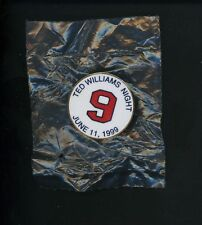 Ted Williams PERSONAL COLLECTION Ted Williams Night Pin June 11 th 1999