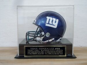 Tony Gonzalez Football Mini Helmet Display Case With A Chiefs Nameplate