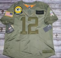 Aaron Rodgers NFL Packers Salute To Service Military Jersey Women's Size L