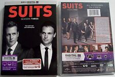 Suits - Season Three 3 - NEW DVD SET Digital UV USA Gabriel Macht Patrick Adams
