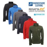 Regatta Mens Thompson Half Zip Lightweight Base layer Fleece Pullover Jumper