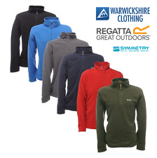 Regatta Mens Thompson Half Zip Lightweight Base layer Fleece Pullover From £8.99
