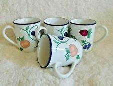 Set 4 Princess House ORCHARD MEDLEY Coffee Mugs / Cups