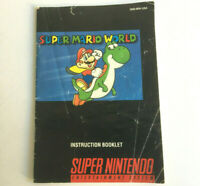 Super Mario World SNES Game Instruction Booklet Manual - Super Nintendo