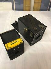 Undeveloped Kodak 120 Film In Original Ansco Cadet B2 Camera Vintage Exposed