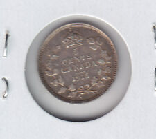 1915 Five Cents Silver - Semi Key Date Coin