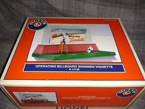Lionel 6-14148 Operating Billboard Signmen Vignette Animated Two Signmen Figures