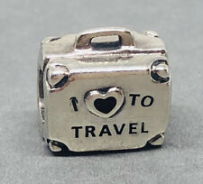 Rare Genuine Pandora Silver I Love To Travel Suitcase Charm 797997ENMX