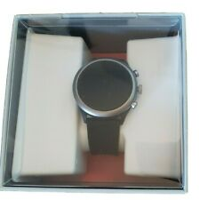Fossil Sport 43mm Aluminum Case Smoky Blue Silicone Smart Watch - (FTW4021)