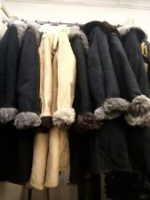 UdSSR Sowjetarmee Winter Schaffell Mantel TULUP Bekesha Schwarz Warm Größe
