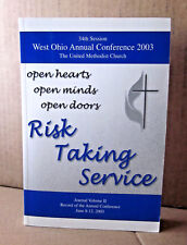 UNITED METHODIST CHURCH West Ohio Conference book 2003 Risk-Taking lecture Vol 2
