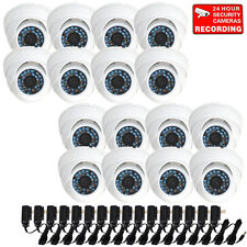 16 Pack Dome Outdoor CCD Security Camera Infrared Day Night Wide Angle Lens B4Z