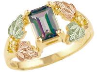 Landstrom's® 10k Mystic Fire Topaz Ring With 12K Black Hills Gold Leaves Size 7
