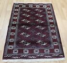 Handmade Persian Turkmen Rug 145 x 110 cm Handmade Oriental Wool Rug Wool Carpet